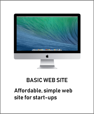 BASIC WEB SITE Affordable, simple web site for start-ups