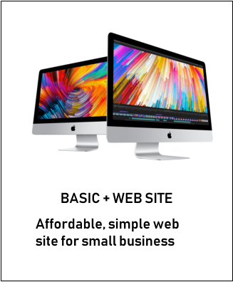 BASIC + WEB SITE Affordable, simple web site for small business